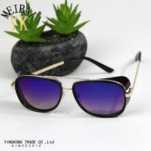 2017 MEIBAI sunglasses women brand designer steampunk polarized sunglasses the trend of men or women Iron man with money