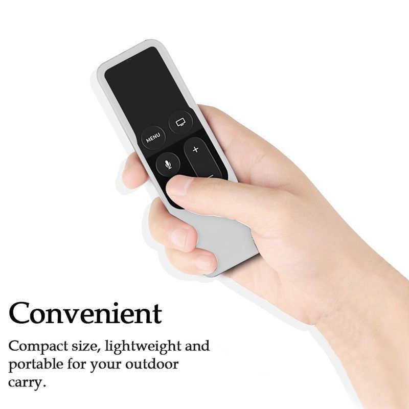 1PC silikonowy osłona pyłoszczelna pokrowiec ochronny pokrywy rękaw pokrywa zdalnego sterowania dla Apple TV 4th pilot zdalnego sterowania