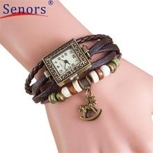 Watch Reloj relogio masculino 2017 ladies watches Weave Round Leather-based Trojans Bracelet Wrist Clock Hours 17feb21