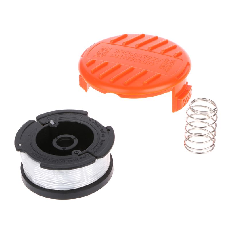 3pcs/set Professional Autofeed Line String Trimmer Replacement Spool Cap Set For Black & Decker