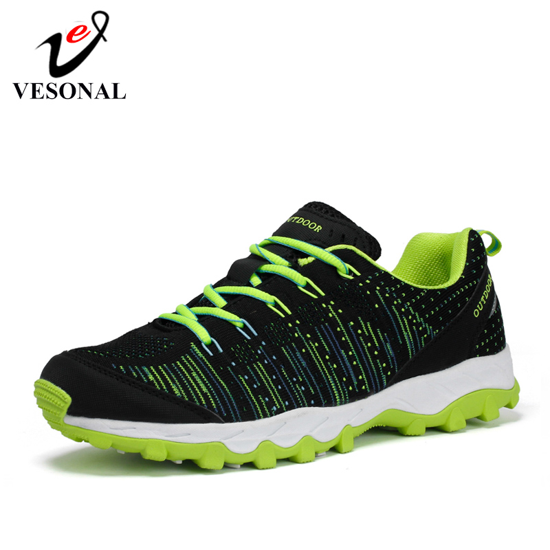 VESONAL Brand 2019 Unisex Comfortable Mesh Breathable Sneakers For Men Shoes Women Outdoor Male Footwear Walking Wading Adult zapatillas de moda 2019 hombre