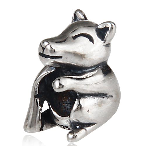 wolf cub Charms Original 100% Authentic 925 Sterling Silver Beads fit for Pandora Charms bracelets