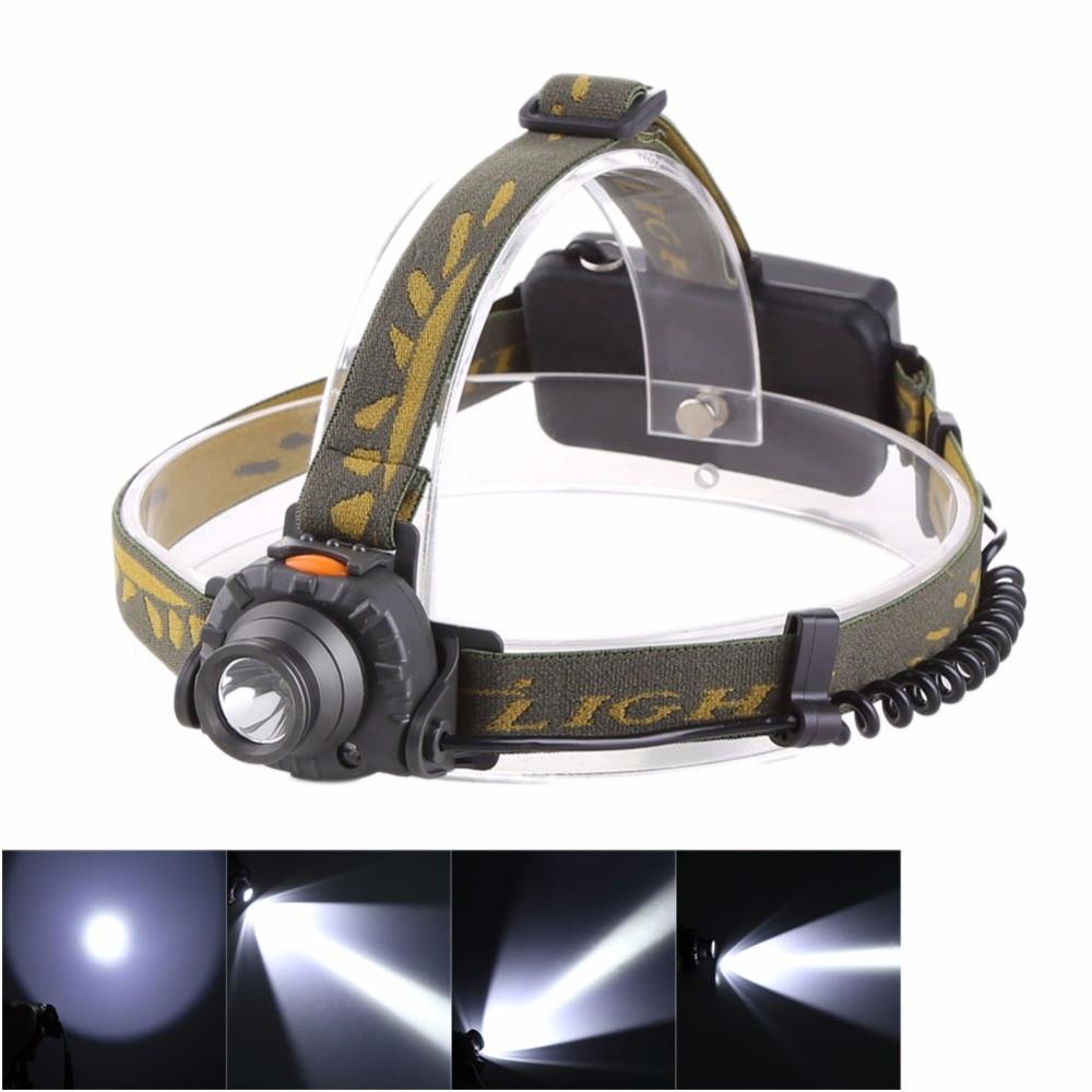 Anjoet Cumay Outdoor Camping 100M Distance  Head Lamp IR Sensor Headlamp 18650 AAA LED Headlight
