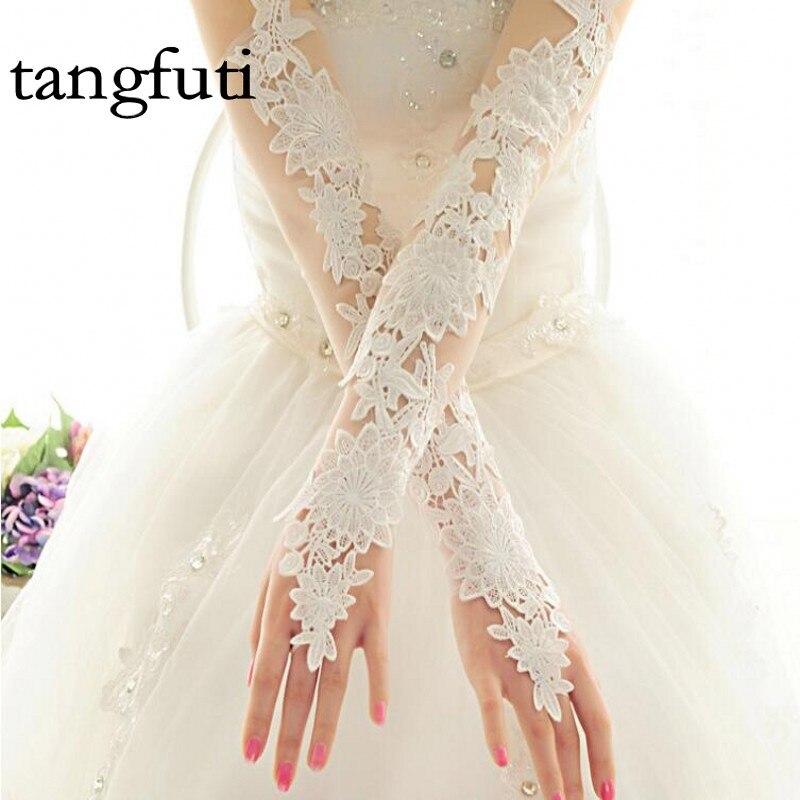 Rood Ivoor Lange Kant Applicaties Elegant voor Bruid Bruids - Bruiloft accessoires