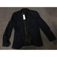 Xieruis 2017 New Autumn Men Blazers Royal Blue Jacket Men Casual Two Buttons Blazer Suit Jacket