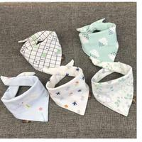 2018 Baby Bibs Cotton Baby Towel Bib Double Snap Neonatal Scarf Scarf Bib Spring