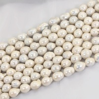 Luxury White Cultured Freshwater Pearl Beads 1 Strand 14 16MM Keshi Baroque Pearl Beads Strands For