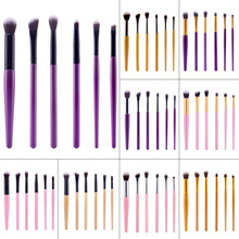 New Portable 6 Pcs Hot Beauty Makeup Cosmetics Eye Shadow Eyeliner Brush Applicator Beauty Tool High Quality Foundation Brushes