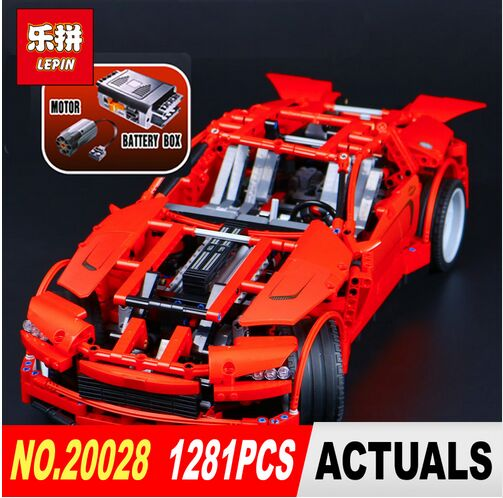 LEPIN 20028 1281PCS Technic series Super Car assembly toy car model DIY brick building block toy gift for boy New Year gift цена и фото