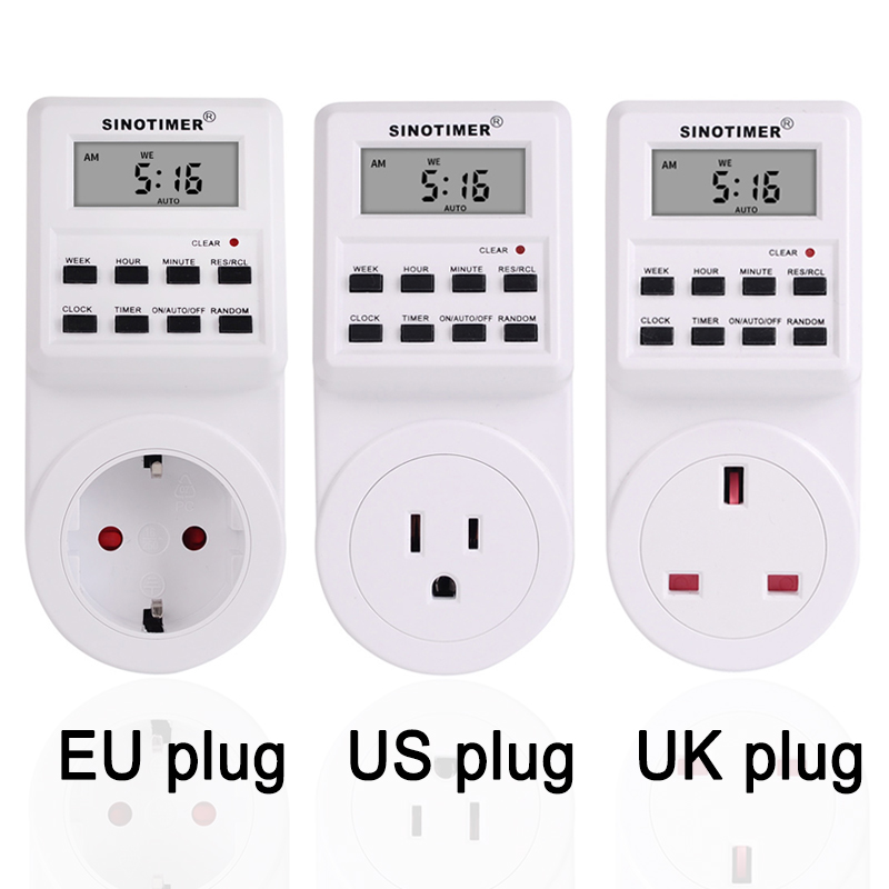 EU US UK FR BR Plug Electrical Weekly Programmable Wall Digital Plug-in Timer Power Socket Switch Outlet Time Clock 230V 120V AC цена