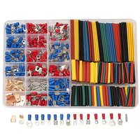 New 350 PCS Lot Crimp Terminals 2 1 Heat Shrink Tube Assorted Connectors Box Kit Electrical