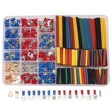 Новый 350 Шт./лот Обжимной Терминалы 2:1 Термоусадочные Трубки Ассорти Разъемы Box Kit Electrical Equipment Supplies