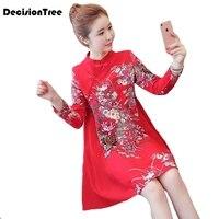 2019 summer chinese traditional dress women chinese dress qipao side slit cheongsam chinese style modern oriental dresse