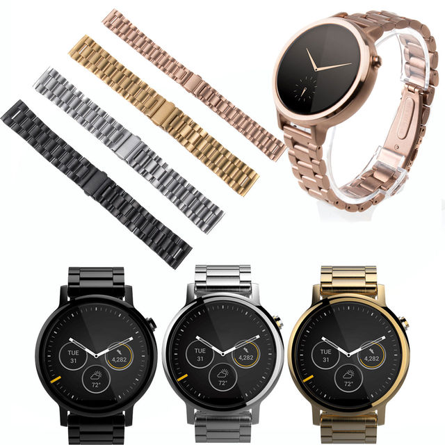 Stainless Steel Watch Bands Bracelet Strap for Motorola Moto 360 2nd Men women 42mm 46mm Smart watch With Connector & Tool