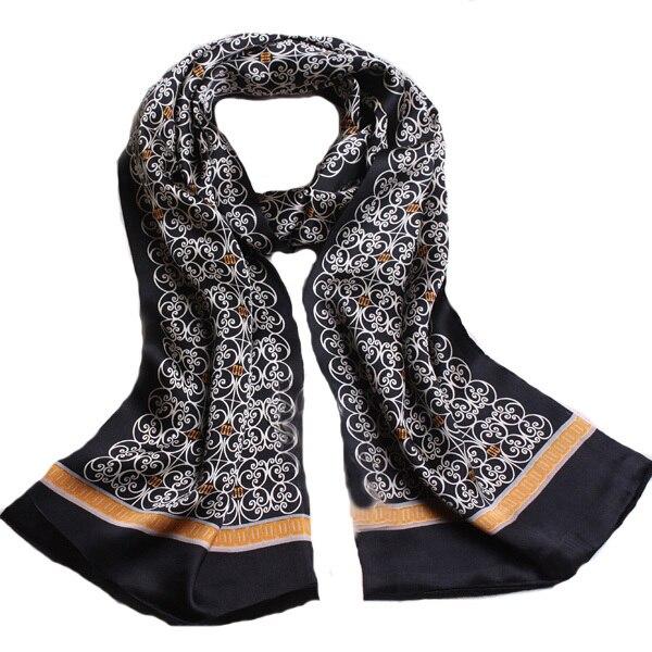 Мужской шарф кашне натуральный шелк двухсторонний деловой стиль ... de48cd57f72