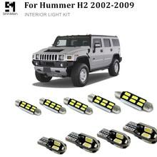 19x LED İç işık kiti led İç paketi Hummer H2 aksesuarları hata ücretsiz LED İç paketi 2002-2009 led