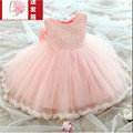 Spring Princess Pompon veil lined with cotton children long-sleeved dress wedding dress High quality fashion girls