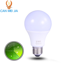 E27 7W LED Lamp 220V Microwave Radar Sensor Bulb Lampada SMD2835 led bulb lights Cold White Bombilla LEDs Lighting