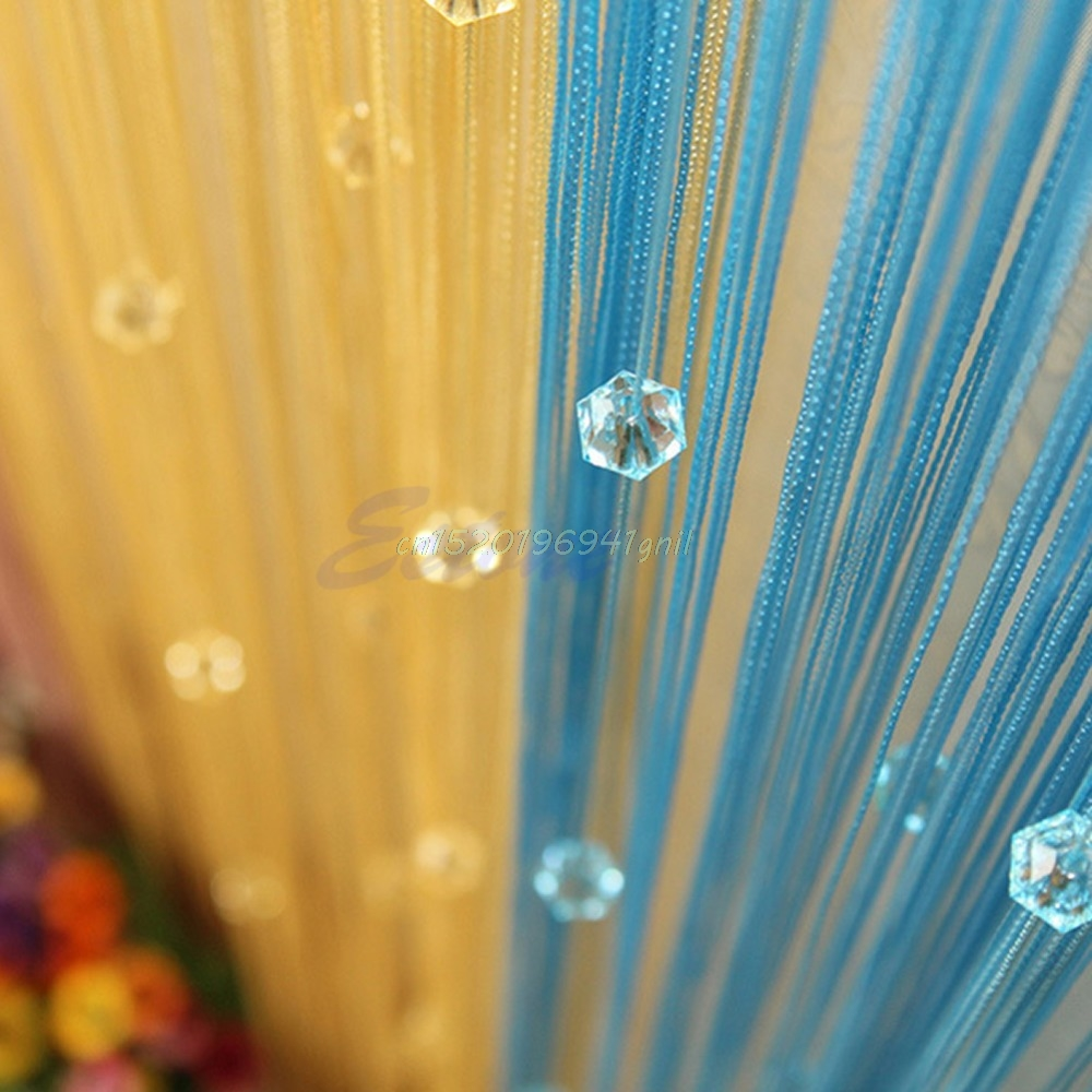 Bead curtain crystal partition curtain finished product crystal bead - New Home Decor Chic Beaded Curtain Crystal Divider Decorative String Door Window Room Divider Blind Panel