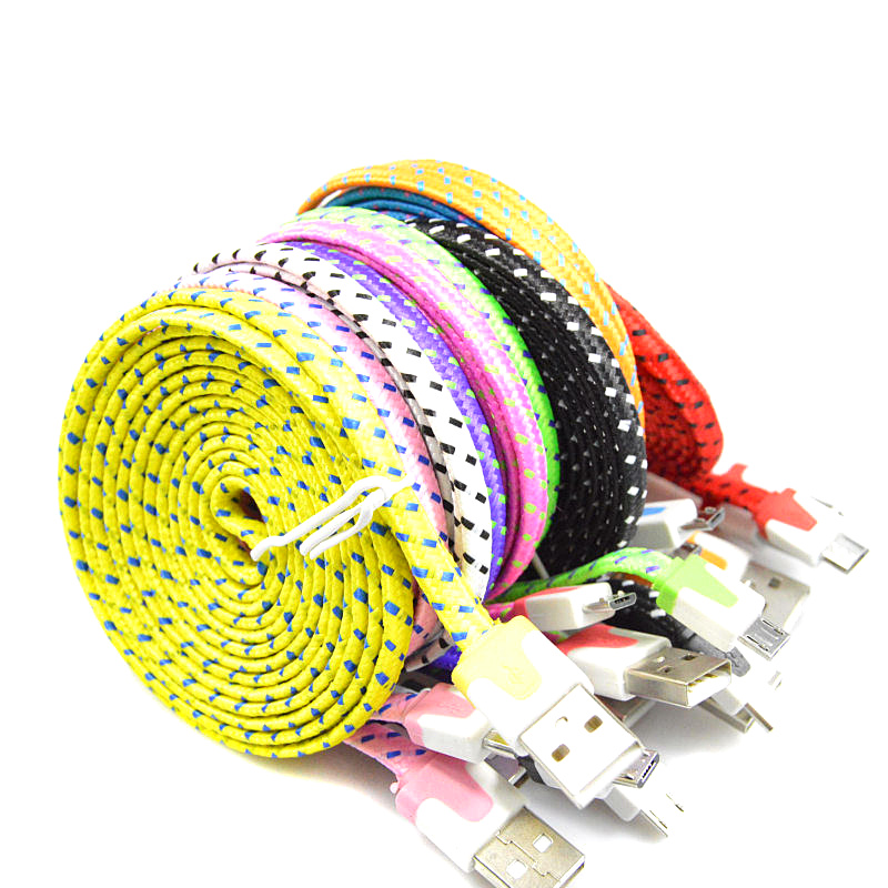 1M 2M 3M Braided Colorful font b USB b font Charging Sync Cord Data Cable for