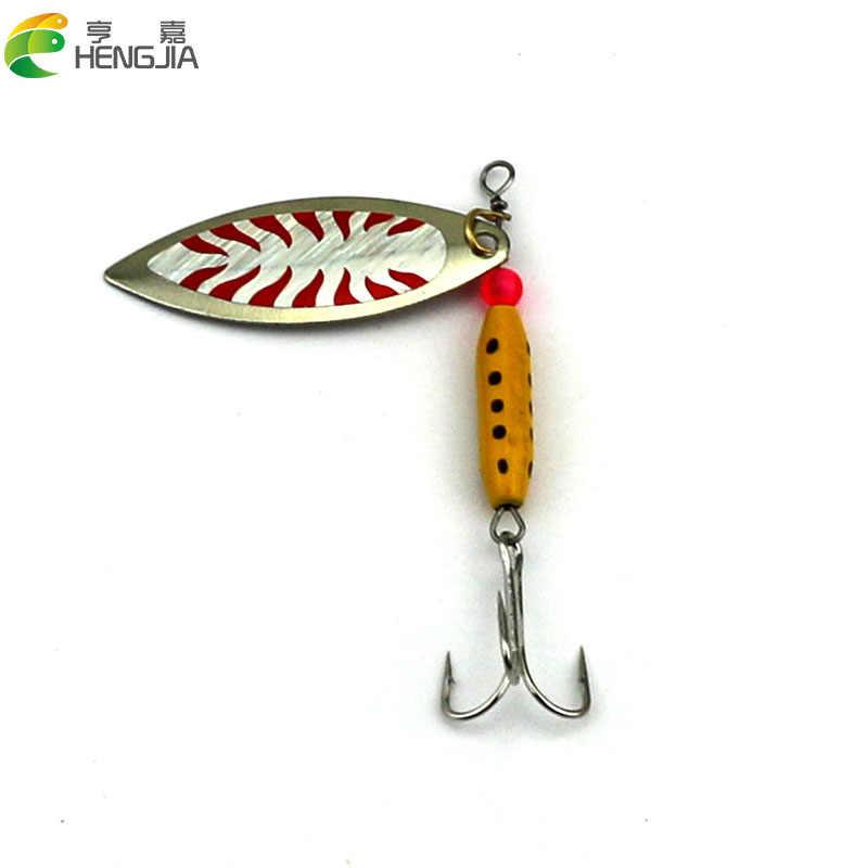 HENGJIA 1pc trolling cucharilla en la noche de cucharas para pesca cebo pike carpa trucha pesca de bagre cebo pesca aparejos de pesca