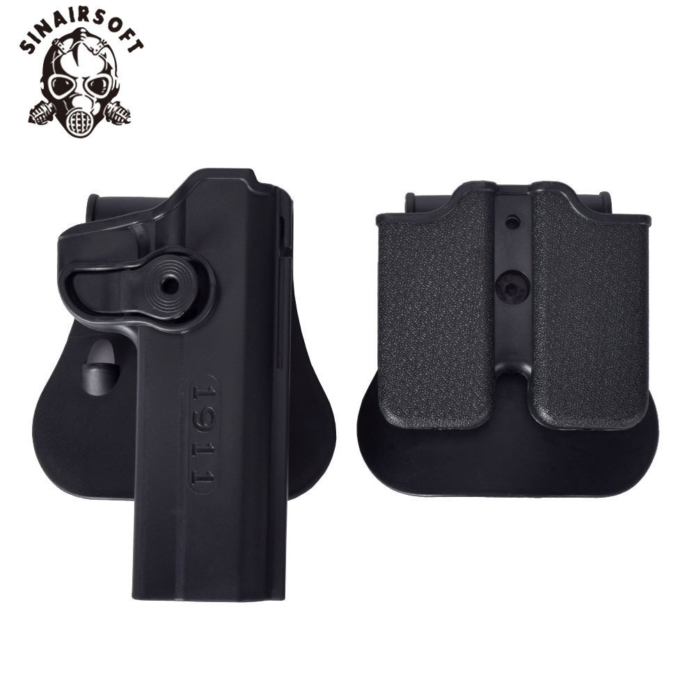 SINAIRSOFT IMI Rotary Holster Magazine carrier set for 1911 Hand Gun Holster Pistol Magazine Pouch Holster Hunting Accessories image