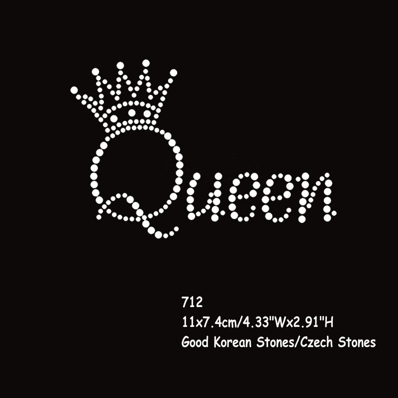 36pcs lot Hotfix Rhinestone Transfers Iron On Motif Queen Crown Letters  Wholesale 3ce6632d72a3