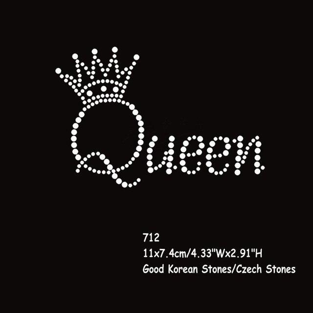 36pcs lot Hotfix Rhinestone Transfers Iron On Motif Queen Crown Letters  Wholesale 0de6b24e0fee