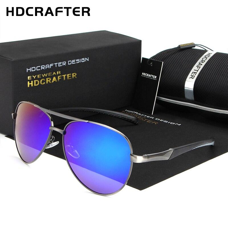 HDCRAFTER 2017 Brand Designer Mens Sunglasses Metal Frame font b Polarized b font Lens Sun Glasses