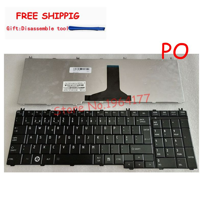 Portuguese/Po Replacement Keyboard Laptop Keyboard For TOSHIBA L750 L750D L755D L760 L770D L775 C650 L650 L650D L655 L670