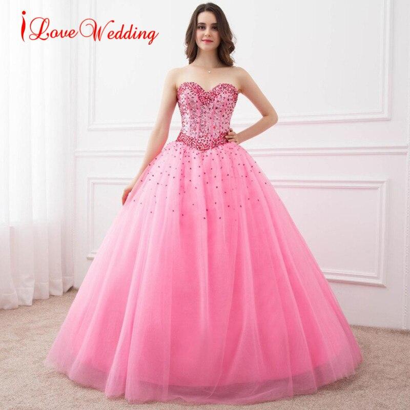 Бальное платье Quinceanera, милое платье с хрустальными бусинами, Vestidos De 15 Anos, 16, настоящее изображение, на заказ, розовые вечерние платья для выпу