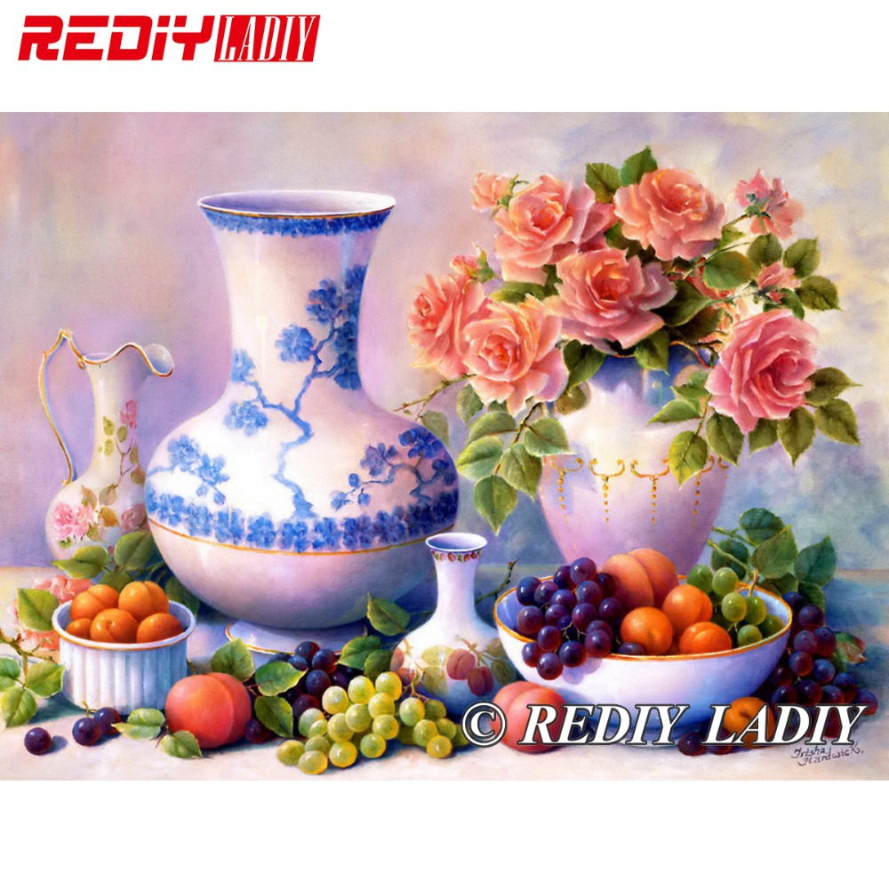 Online shop 28x41cm 3d accurate printed crystal beads embroidery online shop 28x41cm 3d accurate printed crystal beads embroidery kit flower vase beadwork crafts needlework diy beads cross stitch apt669 aliexpress reviewsmspy