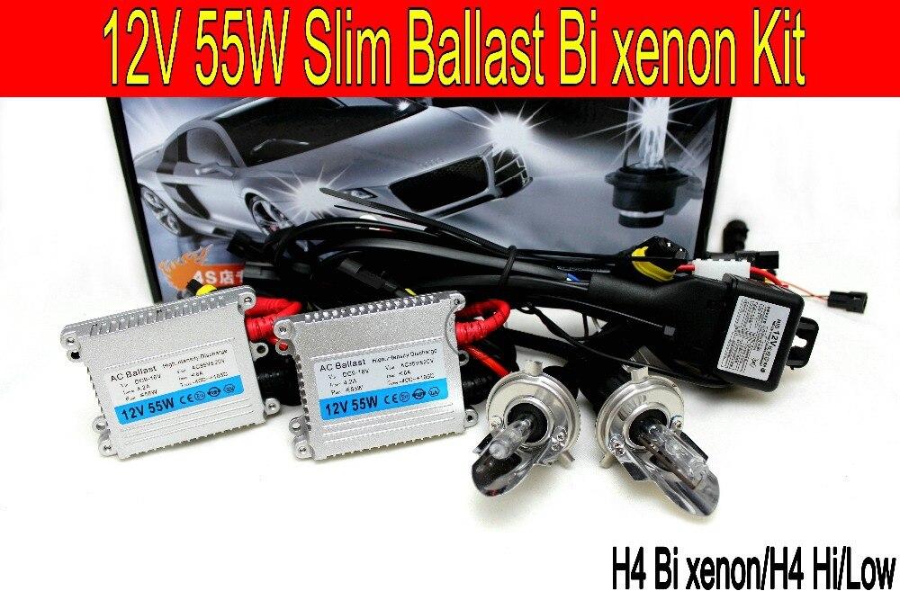 Livraison shipping12V 55 w H4 Bi xénon salut/bas Luminosité kit HID Conversion Kit 6000 k 4300 k 10000 k phare de voiture cadeau une voiture st icker