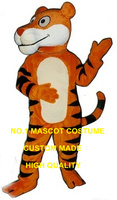 Friendly Tiger mascot costume adult size newly custom cartoon happy tiger cat theme anime cosplay costumes carnival fancy 2699
