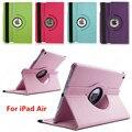 Alta qualidade tablet case para apple ipad air1 360 rotação de couro pu smart cover wake sono proteger cobertura