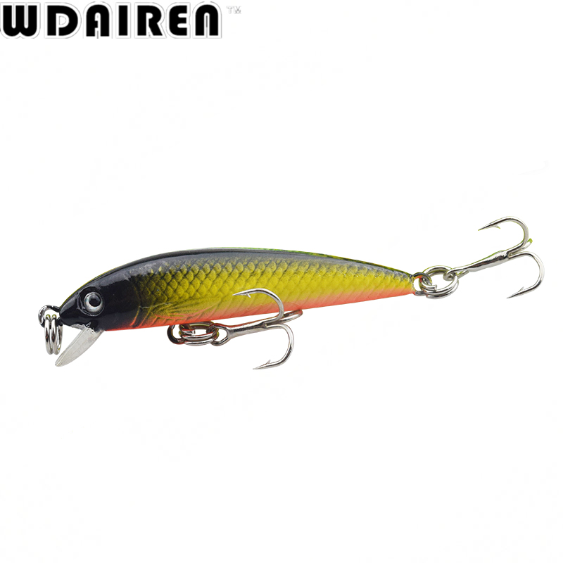1Pcs 5.5cm 3.6g Minnow Fishing lures Artificial bait hard lure Fish Pesca Wobbler crankbait swim winter fishing tackle WD-274 tsurinoya fishing lure minnow hard bait swimbait mini fish lures crankbait fishing tackle with 2 hook 42mm 3d eyes 10 colors set