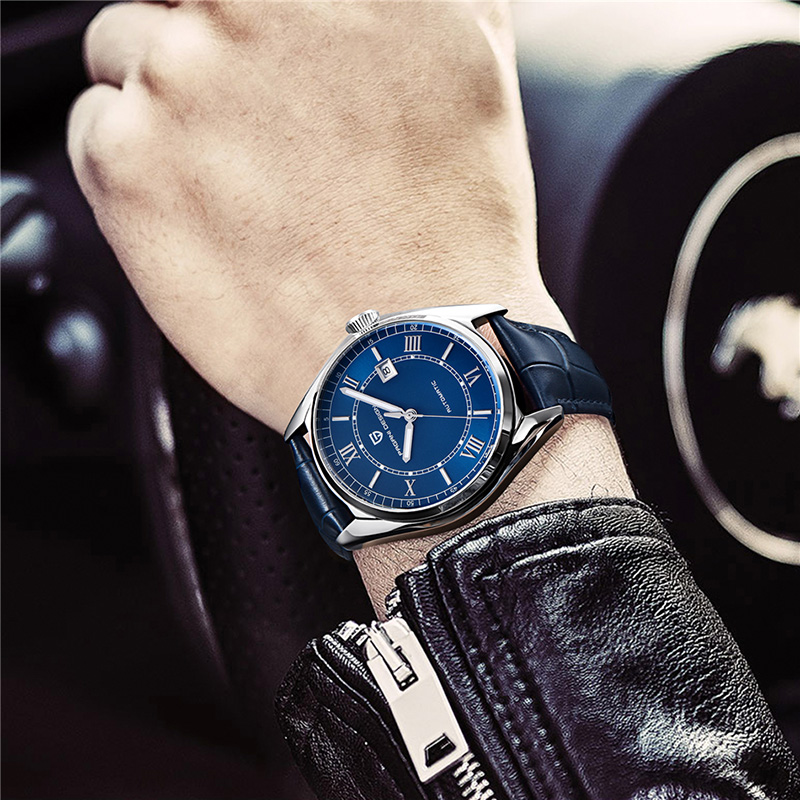 PAGANI TOP new design men 39 s mechanical waterproof watches leather watch of wrist of luxury brand luxury business men relogio in Mechanical Watches from Watches