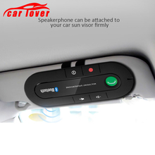 Bluetooth Receiver Handsfree Car Kit Speakerphone Stereo MP3 Music Player Sun Visor Clip Wireless Bluetooth Multipoint Earphone цены онлайн