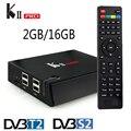 Mais novo KII Pro Android 5.1 TV Box 2 GB + 16 GB DVB-S2 DVB-T2 K * di Pré-instalado S905 Amlogic Quad-core Do Bluetooth Inteligente Media Player