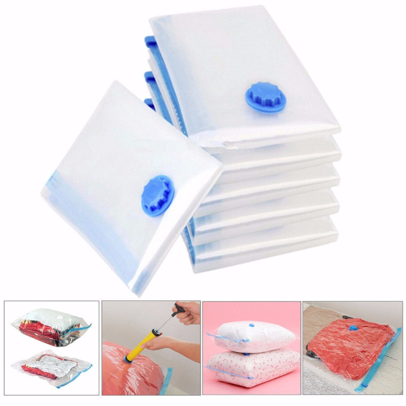 Vacuum Bag Storage Organizer Transparent Foldable Extra Large Seal Compressed Travel Saving Space Bag Packing Travel Accessorie
