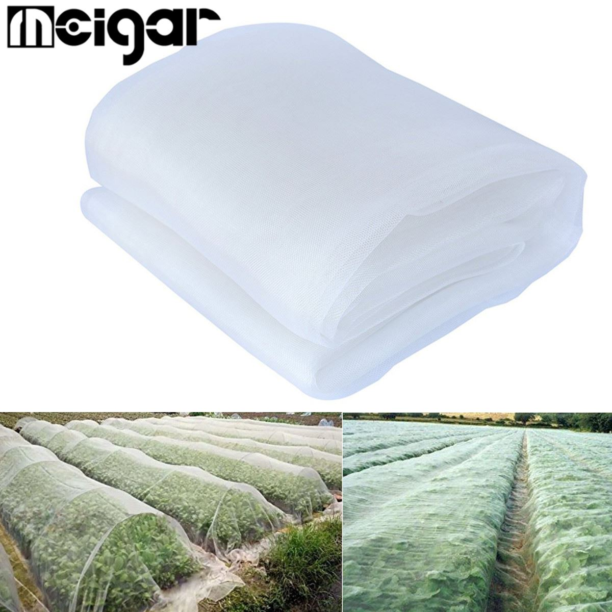 2.4x6M Mosquito Netting Bug Insect Bird Net Hunting Barrier Protect Planter Mesh Net Garden Orchard <font><b>Pest</b></font> Control Tools Supplies