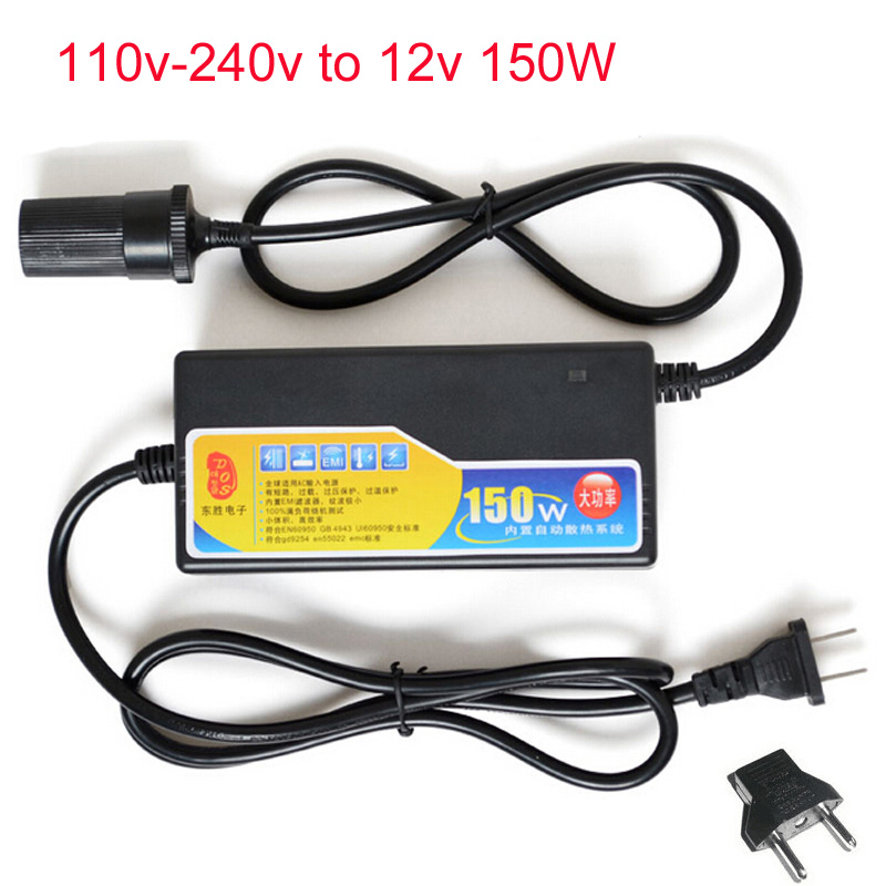 AC 100 240V 220V To 12V Power Adapter for Car Automotive 150W Car Socket Converter Adapter DC Power Supply Transformer