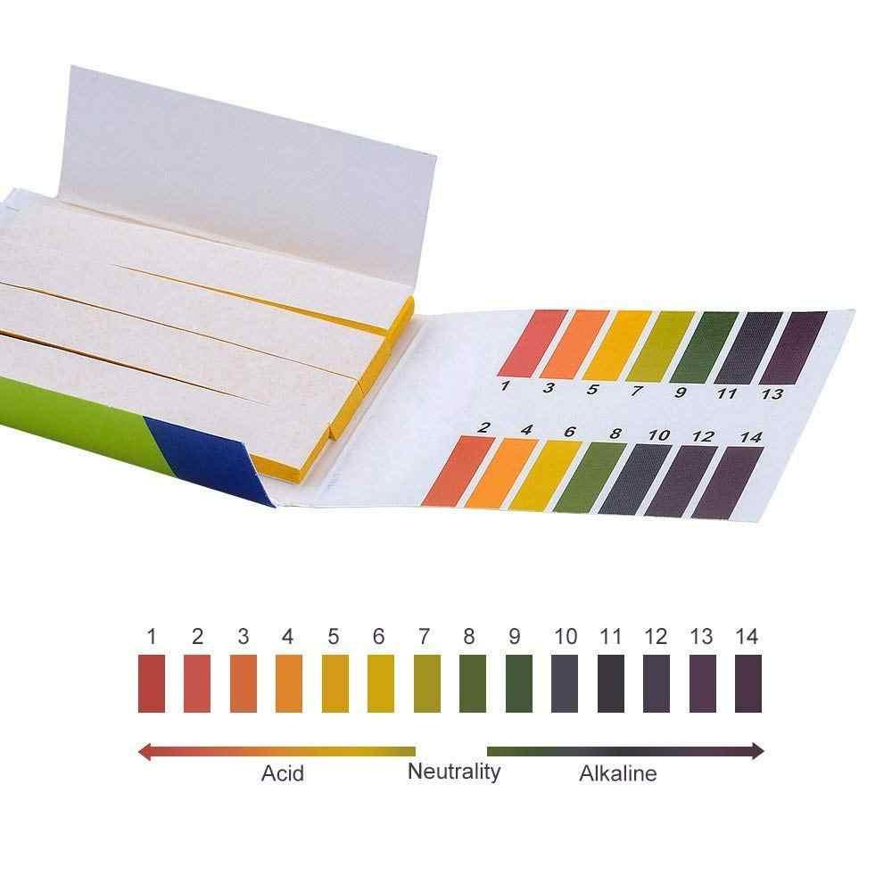 80 רצועות/חבילה pH מבחן רצועות מלא PH מטר PH בקר 1-14st מחוון לקמוס נייר מים Soilsting ערכת