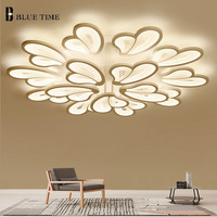 New Creatived LED Chandeliers For Living Room Dining Room Black And White LED Chandelier Lighting Blooming Flowers AC110V 220V.