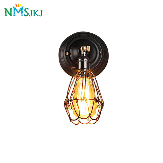 Aliexpress.com : Buy Wire Cage Wall Light Sconce Edison Industrial ...