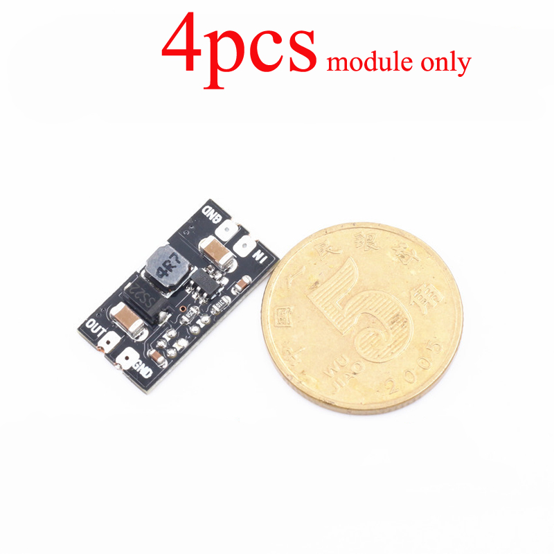 4PCS DC-DC Booster Module Boost Power Step-up Input 2.2V-5V to 5V 2A Boosting s for <font><b>1S</b></font> <font><b>Lipo</b></font> <font><b>Battery</b></font> RC FPV image