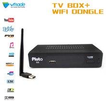 TV erhalt ausrüstung Vmade S2 Pluto S9 FULL HD Digitalen satelliten receiver Unterstützung H.264 MPEG 2/4 DVB TV Box mit WIFI Dongle