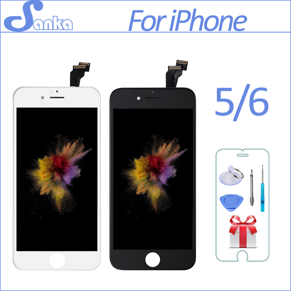 SANKA AAA For iPhone 5 5S 6 6PLUS 6S LCD Display Module Touch Screen Digitizer Replacement Phone Parts Lcd Screen Assembly