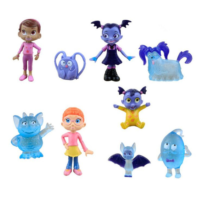9 шт./компл. мультфильм Junior vampirina вамп Фигурки игрушки куклы Детский подарок Бесплатная доставка