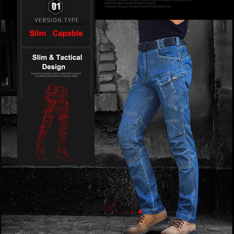 3bd0d1ae79b 2017 militares casuales de los hombres táctico Jeans vaqueros de denim con  táctica bolsillos tácticas hombre pantalón vaquero largo pantalón en  Pantalones ...